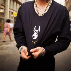 Camiseta streer Dobermann Manga longa